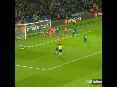 Jamie Vardy GOAL - Leicester 1 - Atletico Madrid 2 | UCL 2017