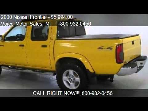 2000 nissan frontier se 4x4 off road crew cab short box for Voice motors kalkaska michigan