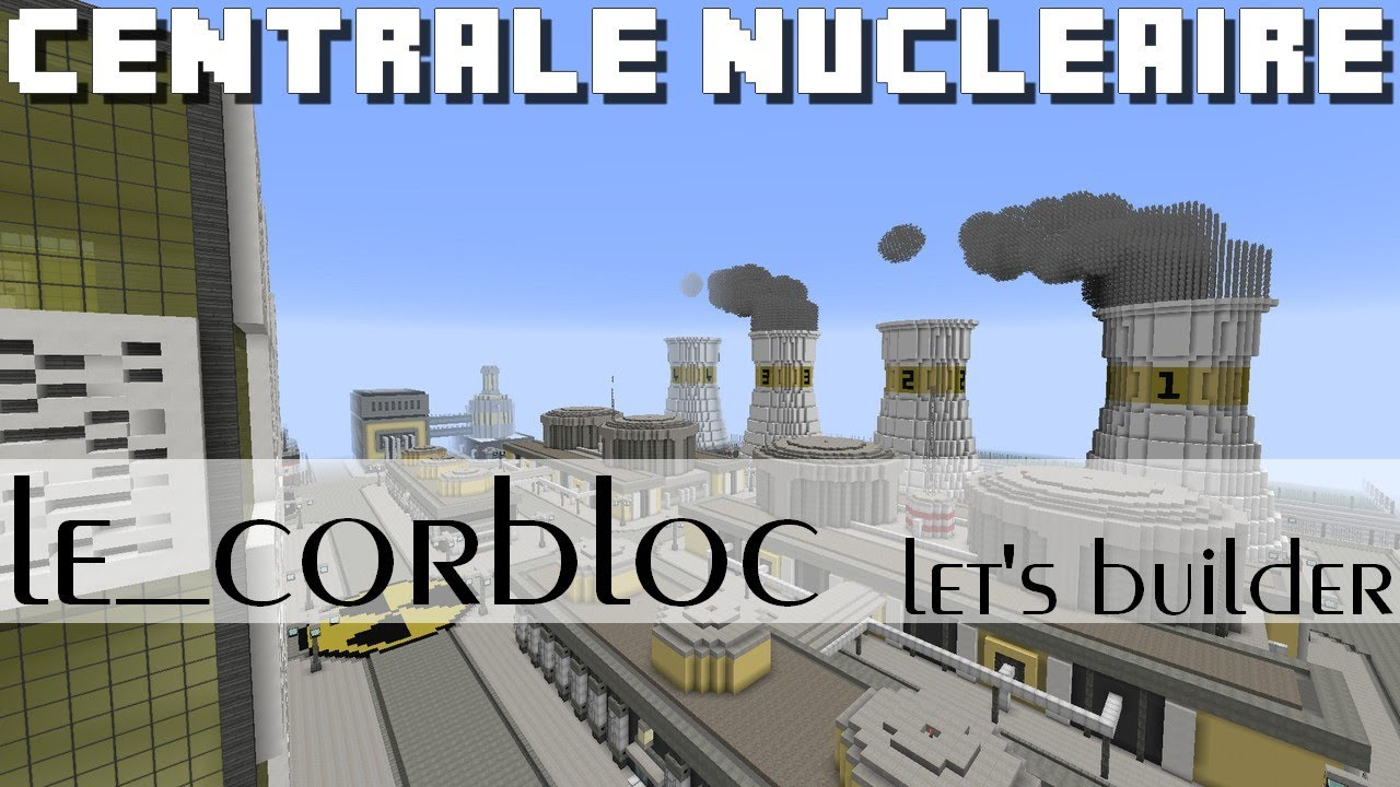 Minecraft Centrale Nuclaire Youtube Nuclear Power Plant Schematic