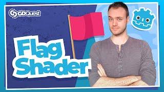 Create An Animated 3D Flag Shader In Godot
