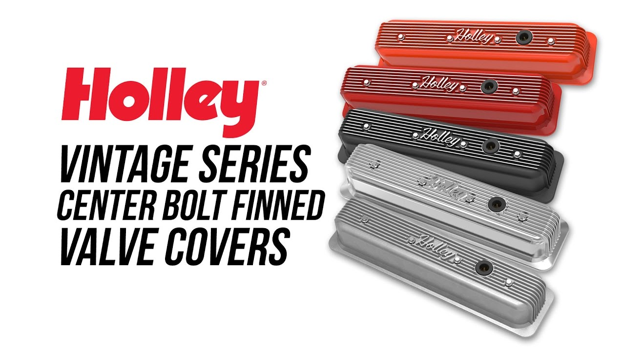 Holley Vintage Series Center Bolt Finned Valve Covers Youtube