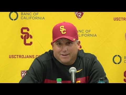 USC Football Post Presser-  Notre Dame