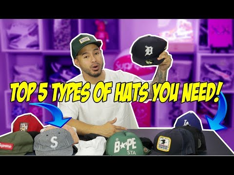 TOP 5 TYPES OF HATS EVERY MAN SHOULD OWN!