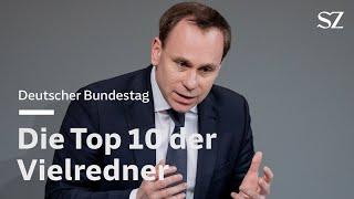 Das sind die Vielredner im Bundestag