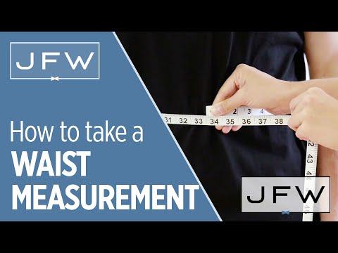 Waist Measurement For Tuxedo And Suit Rentals