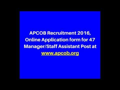 APCOB Recruitment 2016   Online Application form for 47 Manager/Staff Assistant Post   Jaggy