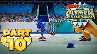 Mario and Sonic at the Sochi 2014 Olympic Winter Games - Part 10 - Short Track Speed Skating 1000m