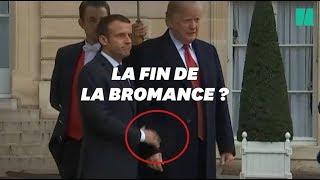 ترامب يحرج ماكرون أمام الصحفيين ويرفض مصافحته .. فيديو