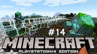 Стеклянный мост через реку с утопцами ☀ Minecraft Прохождение 14