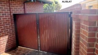 Aluminium Wood Look Slat Gates Perth