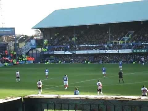 Fratton park and the lalalalalalalalalalala we sent the scummers down song