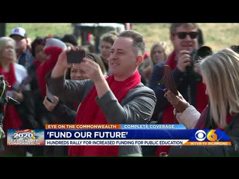 Virginia teachers rally, push for more education funding