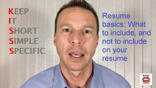 What to include, and not include on your resume