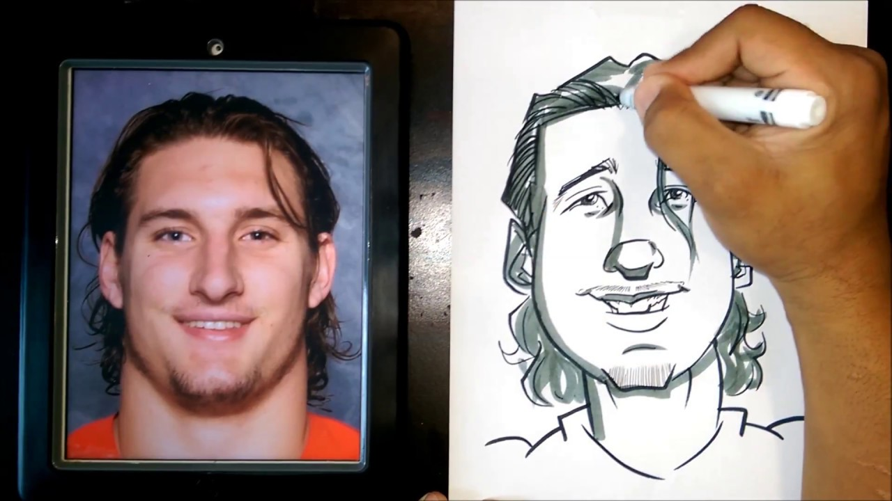 How To Draw A Quick Caricature Joey Bosa