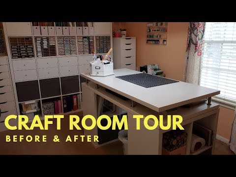 Craft Room Makeover Tour | Before & After
