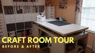 Craft Room Makeover Tour   Before & After