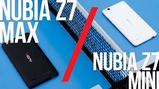 Смартфоны NUBIA Z7 Max и Z7 Mini - распаковка и полный обзор