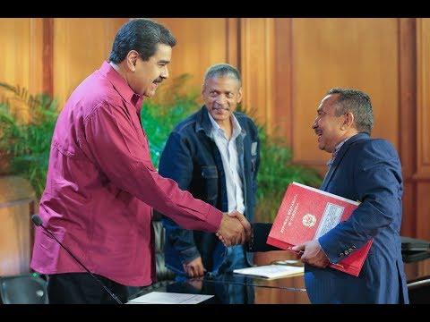 Presidente Maduro firma contrato colectivo con el sector salud, acto completo