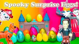 Opening Spooky Surprise Eggs with Scooby Doo and  Paw Patrol Toys