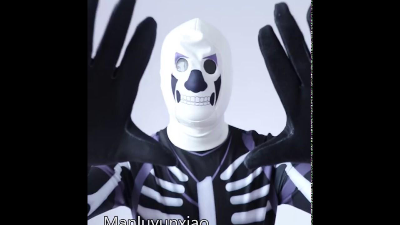 Fortnite Skull Trooper Cosplay Costume Detail Overview Youtube