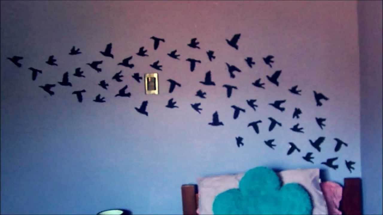 Decora tu habitaci n con aves inspirado en tumblr muy - Dibujos faciles para paredes ...