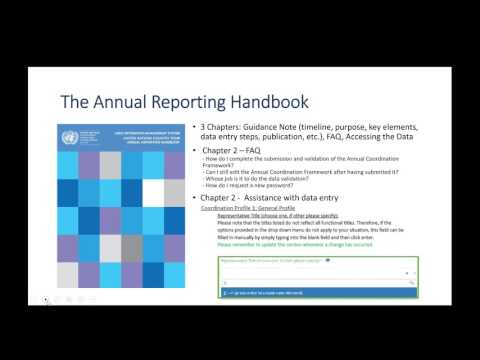 Guidance for UN country teams annual reporting