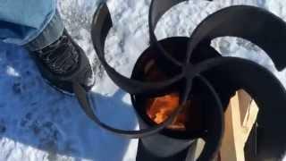 видео Походная печь/обогреватель для палатки, обогрев своими руками
