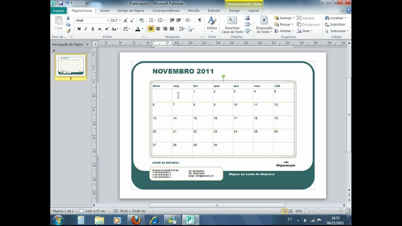 Como Hacer Un Calendario En Word.Calendario Como Criar