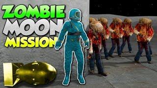 ZOMBIE MOON BASE MISSION!? - Garry's Mod Gameplay - Gmod Zombie Apocalypse Roleplay