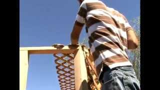Wood Working Plans - Build A Gazebo Installing Gazebo Roof Lattice