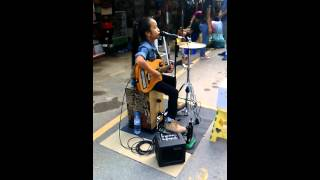 Hotel california cover by 11 year old Thai girl