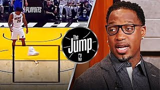 McGrady On Justise Winslow Stepping On Joel Embiid's Mask On Purpose | The Jump