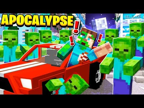 SURVIVE The ZOMBIE APOCALYPSE In MINECRAFT!
