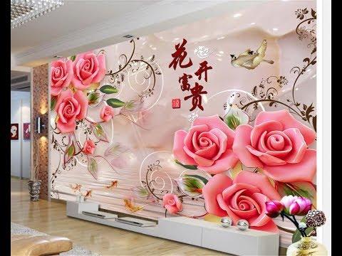 Обои с Цветами в Гостиную - фото 2018 / Wallpapers With Flowers In The Living Room Photo