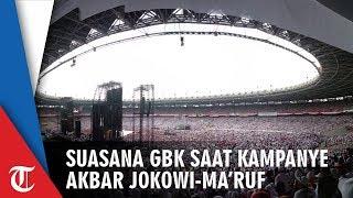 Video Suasana GBK saat Kampanye Akbar Jokowi-Ma'ruf, Tumpah hingga di Luar Stadion