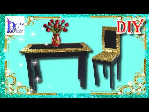 Как легко сделать СТОЛ и СТУЛ для кукол. DIY. How to make Doll Table and Chairs