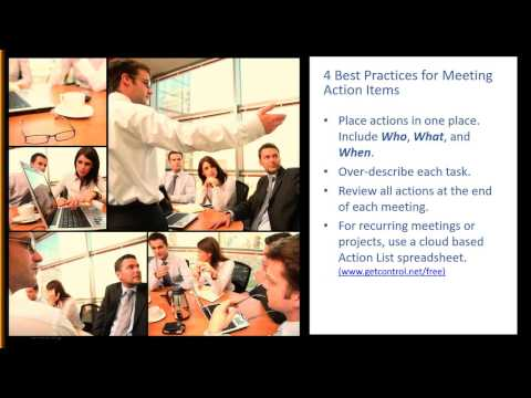 How to Complete Meeting Action Items