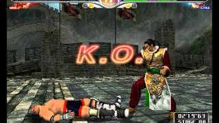 Virtua Fighter 4 Final Tuned (Rev.A) - Demul 0.7 Alpha WIP - Gameplay (Wolf) -