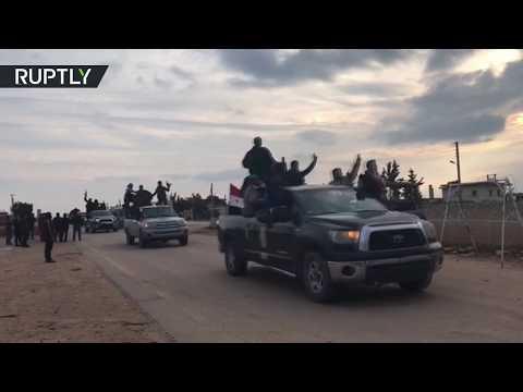 Pro-Syrian militias entering Afrin amid Turkish threats of escalation