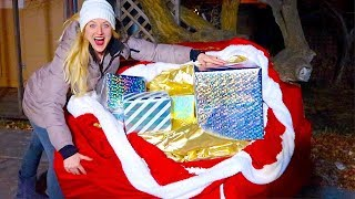 WE FOUND SANTA'S BAG! EPIC CHRISTMAS TREASURE HUNT!