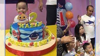 Ulang Tahun Hazael Tema Baby Shark yang ke2 | PINK FONG | THEMED BIRTHDAY PARTY @Sunday School