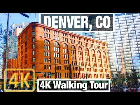 4K City Walks: Denver, Colorado 16th Street Mall To Capitol - Virtual Walk Treadmill City Guide Vid