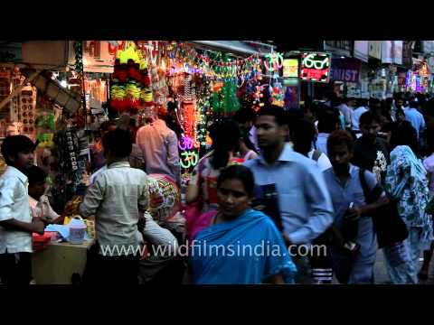 Shopping for crackers and gifts on Diwali