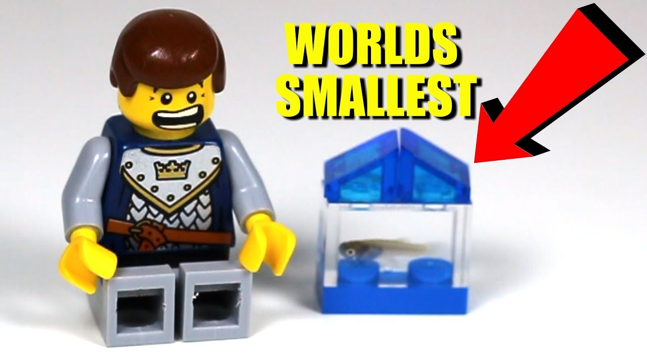 The Worlds Smallest Aquarium Made With Lego Youtube