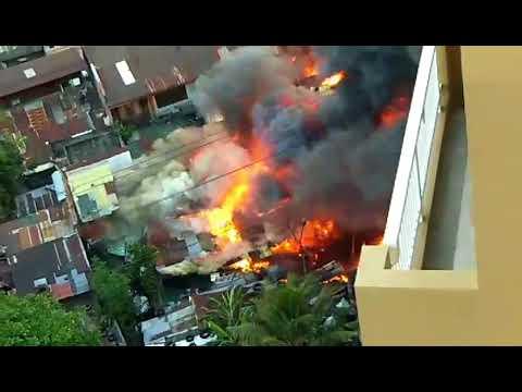 Fire hits residential area near Tomas Morato
