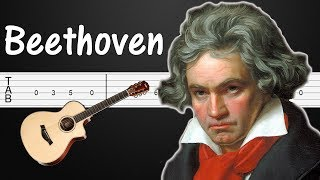 Fifth (5) Symphony - Beethoven Guitar Tabs, Guitar Tutorial