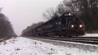 Chasing Pan Am Railways WAAY in a Snow Storm!