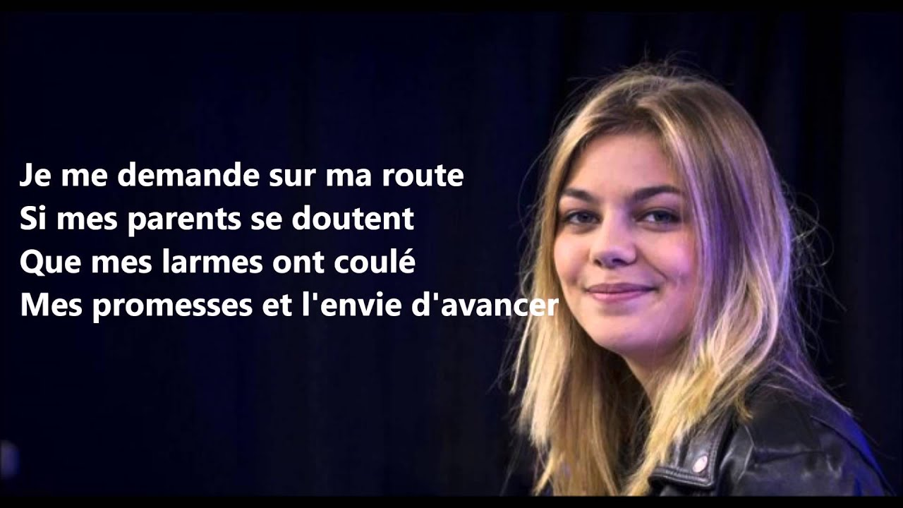 louane je vole michel sardou lyric youtube. Black Bedroom Furniture Sets. Home Design Ideas
