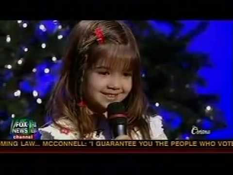 5 year old Kaitlyn Maher sings Away In A Manger  Fox and Friends Christmas Special