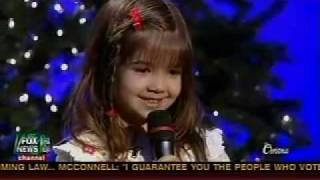 5 year old Kaitlyn Maher sings Away In A Manger - Fox and Friends Christmas Special